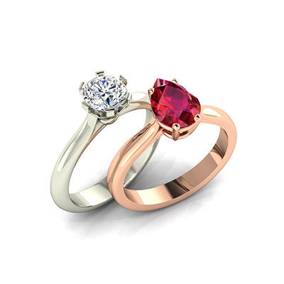 Solitaire rings>