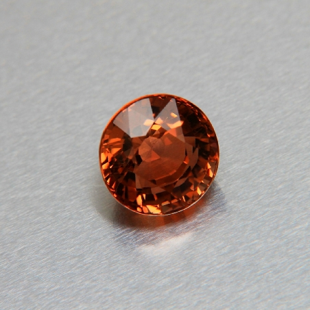 Round cut brown tourmaline, 5.21 ct
