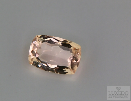 Morganite taglio a cuscino, 3.37 ct