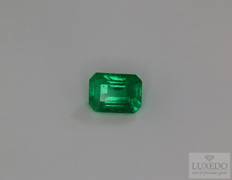 Emerald, octagonal cut, 1.07 ct