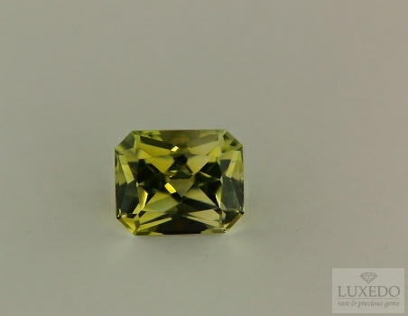 Green tourmaline, octagon cut 3.16 ct