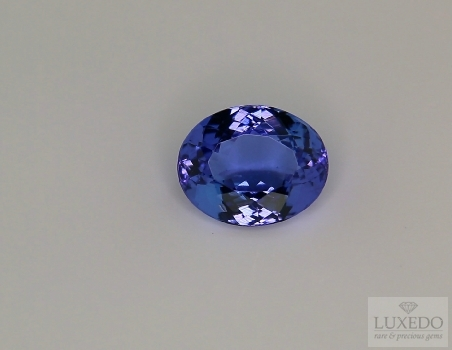 Oval cut tanzanite, 3.57 ct.