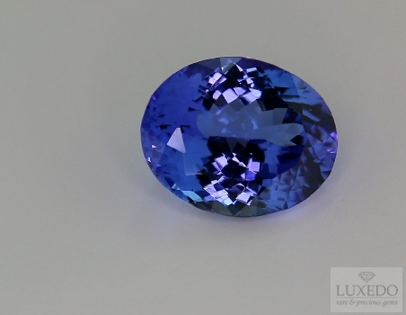 Oval cut tanzanite, 10.89 ct.