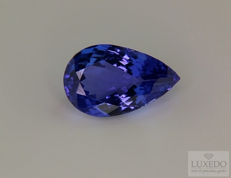 Pear cut tanzanite, 8.21 ct.