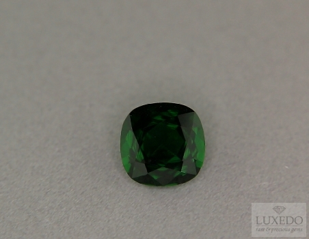 Chrome tourmaline, cushion cut, 2.59 ct