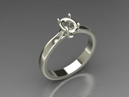 "Solitaire ring in 18 kt gold ""Victoria"""