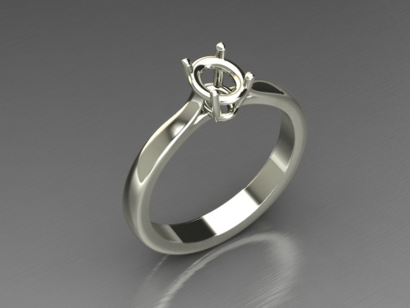"18 kt gold solitaire ring ""Victoria"""