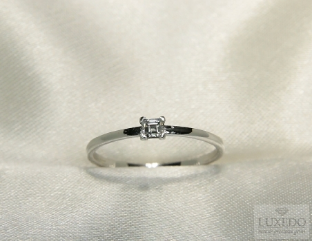 Stackable ring, 18 kt White gold with Diamond