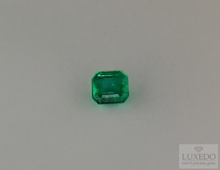 Emerald, octagon cut, 0.49 ct