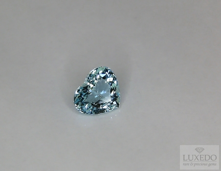 Aquamarine, heart cut, 1.13 ct