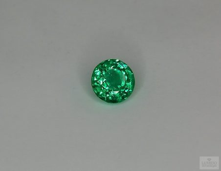 Emerald, round cut, 1.02 ct