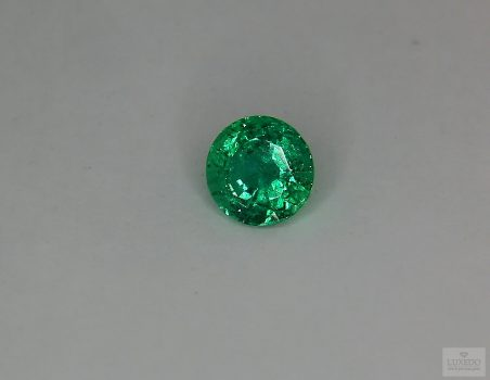 Emerald, round cut, 1.41 ct