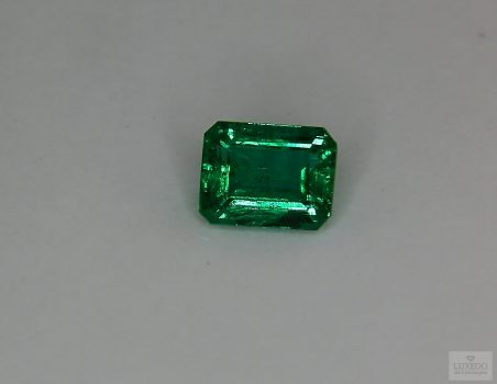 Emerald, octagonal cut, 2.09 ct