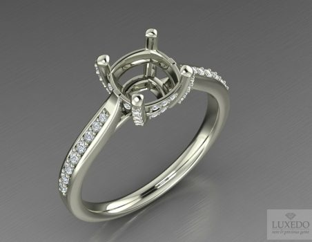"Diamonds ring setting in 18 kts gold ""Blanca"""
