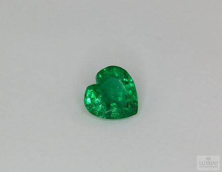 Emerald, heart cut, 1.41 ct