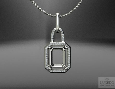 "18 kt gold pendant with diamonds ""Jalou"""