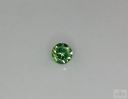 Demantoid garnet, round cut, 0.80 ct