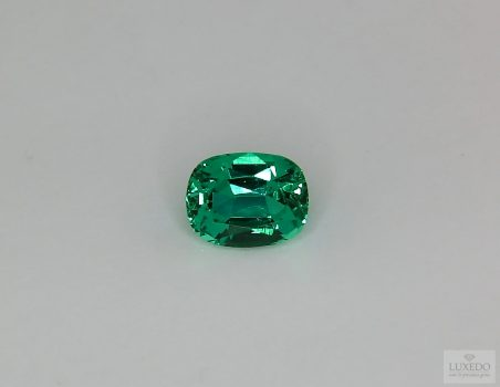 Emerald, cushion cut, 1.45 ct
