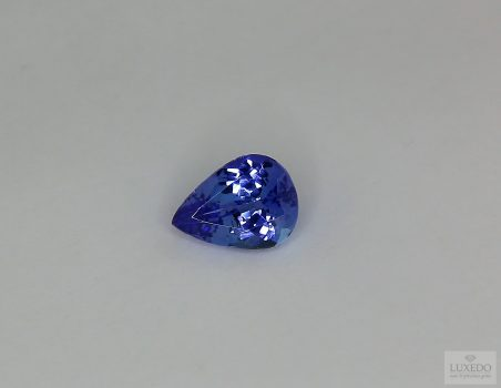 Tanzanite, drop cut, 1.28 ct
