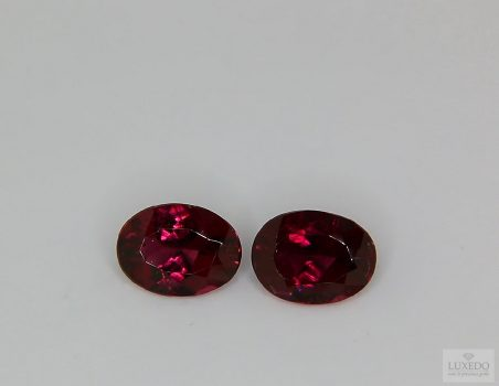 Pair of Red Tourmalines, oval cut, 2.23 ct tot.