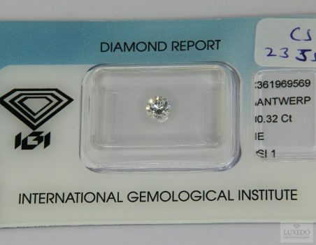 Diamond, brilliant cut E/SI1, 0.32 ct (IGI)