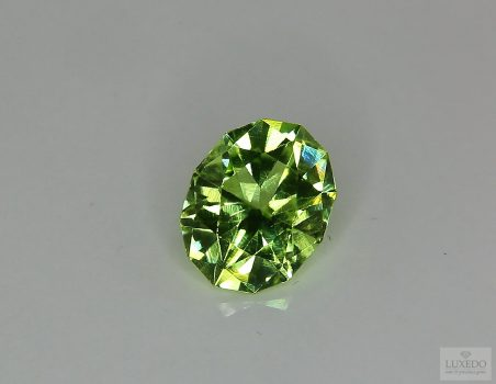Peridot, oval fancy cut, 4.40 ct