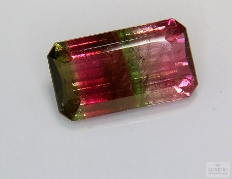 Rainbow Tourmaline, octagonal cut, 12.14 ct