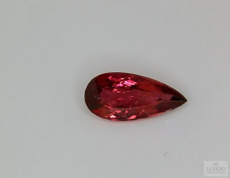 Red Tourmaline Rubellite, drop cut, 2.73 ct