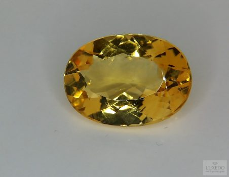 Citrine Quartz, oval cut, 10.75 ct
