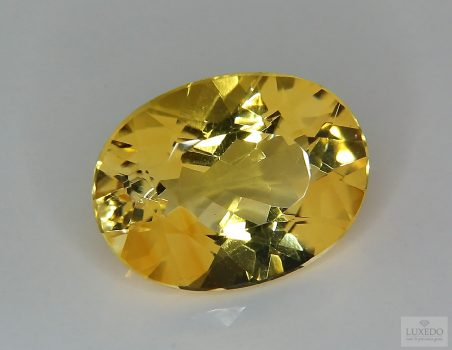 Citrine Quartz, oval cut, 15.58 ct