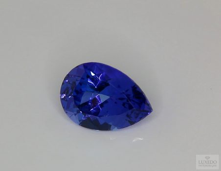 Tanzanite, drop cut, 5.29 ct