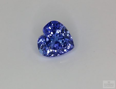 Tanzanite, heart cut, 4.16 ct