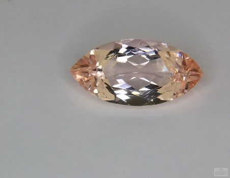 Morganite, marquise cut, 6.12 ct