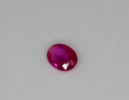 Burma Ruby, oval cut, 1.24 ct
