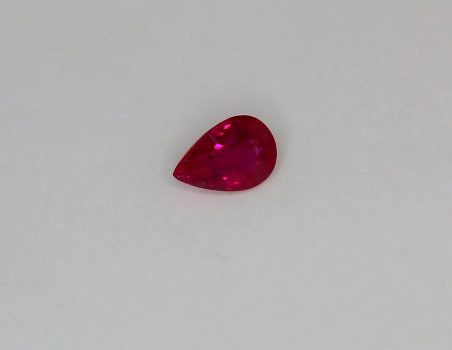 Ruby, drop cut, 0.99 ct