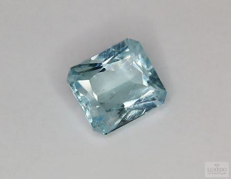 Aquamarine, octagon cut, 5.15 ct