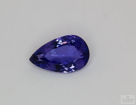 Tanzanite, drop cut, 4.83 ct