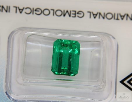 Colombian Emerald, octagonal cut, 2.88 ct (IGI)