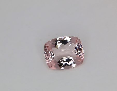 Morganite taglio a cuscino, 3.33 ct