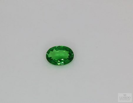 Tsavorite, oval cut, 0.79 ct