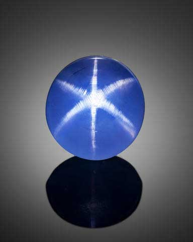 The Star of Asia, a 3.30 ct blue cabochon-cut star sapphire, is one of the finest star sapphires in the world. (Image: Chip Clark)