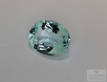 Aquamarine, oval cut, 3.16 ct