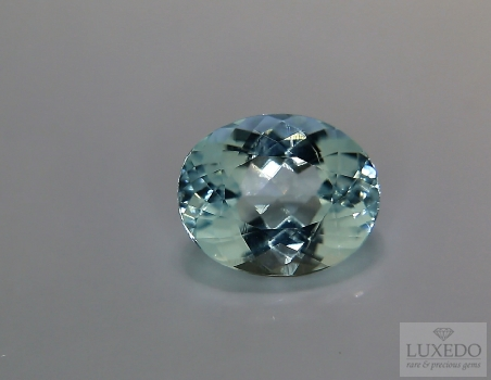 Aquamarine, oval cut, 3.54 ct