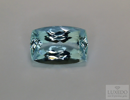 Aquamarine, cushion cut, 4.30 ct