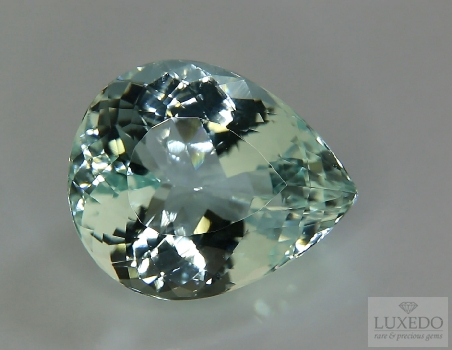 Aquamarine, drop cut, 12.39 ct