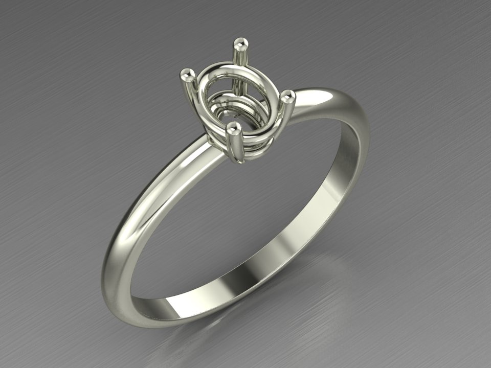 """Solitaire ring in 18 kt gold """"Plumea"""""""