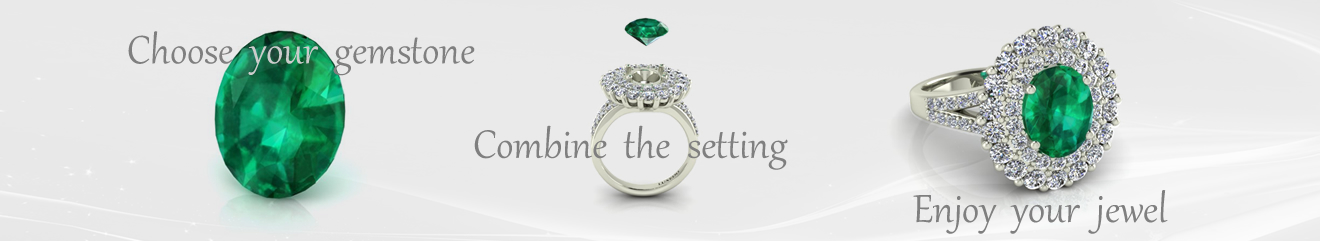 Colombian emerald and diamonds ring