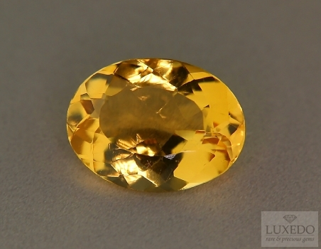 Citrine quartz oval cut, 10.64 ct