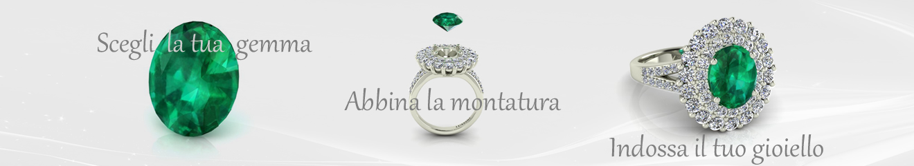 anello con acquamarina e diamanti