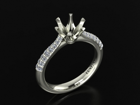 "18 kt gold ring with diamonds ""Albion Star"""
